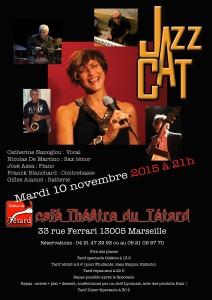 Jazz Cat - Catherine Nanoglou - Nicolas De Martino - José Assa - Franck Blanchard - Gilles Alamel - bouchon - bouchon lyonnais - théâtre du Têtard - têtard - 13005 - Marseille - cuisine lyonnaise