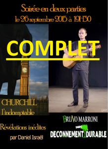 Bruno Marroni - Daniel Israël - théâtre du Têtard - Têtard - bouchon - bouchon lyonnais - lyonnais - 13005 Marseille - Déconnement durable - Churchill