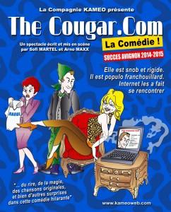 The Cougar.Com - théâtre du Têtard - Compagnie Kameo - www.kameoweb.com - Sofi Martel - Arno Maxx - bouchon - bouchon lyonnais - 13005 Marseille - café théâtre - cougar - cougars - puma