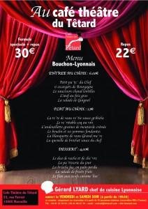 menu bouchon lyonnais théâtre têtard menu 2015