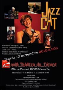 Jazz Cat - Catherine Nanoglou - Quintet - version cordes - orchestre - orchestre à cordes - le bouchon - le Bouchon-Lyonnais - cuisine lyonnaise - le Têtard - café-théâtre