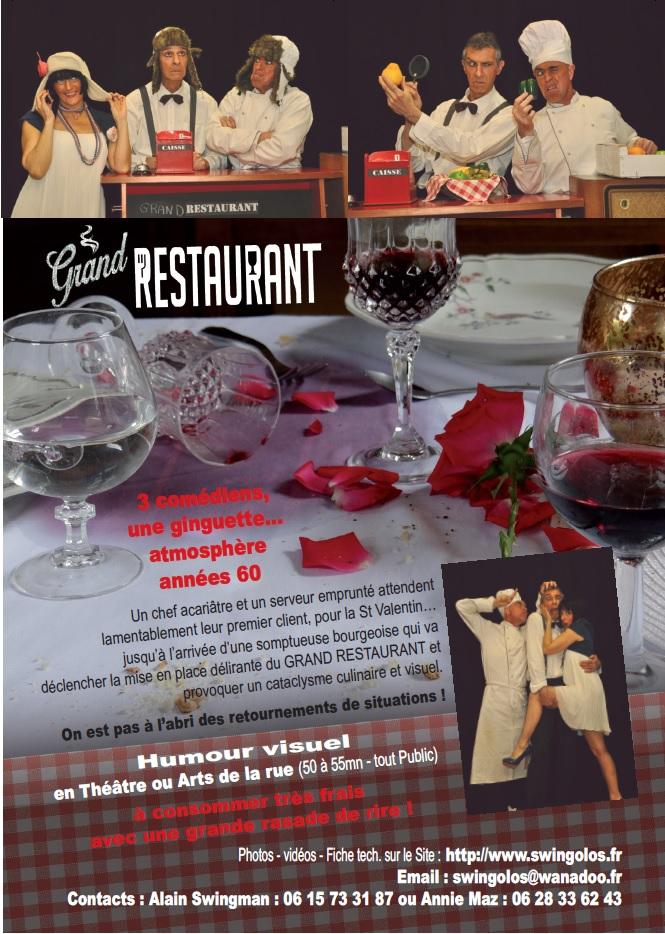 grand restaurant, humour, humour visuel, théâtre, tetard, têtard, bouchon, bouchon lyonnais, cuisine lyonnaise, arts de la rue, années 60, Annie Mazzocco, Alain Swingman, Patrick Tranchida