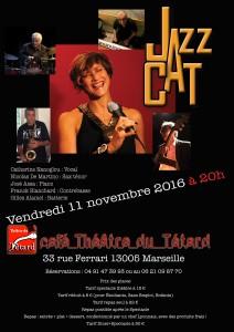 JazzAcat - Catherine Nanoglou - Nicolas De Martino - José Assa - Franck Blanchard - Gilles Alamel - bouchon - bouchon lyonnais - théâtre du Têtard - têtard - 13005 - Marseille - cuisine lyonnaise