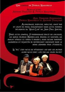 L'enfer c'est les autres, Patrick Ruggirello, Françoise Diradourian, Antoine Piqueyras, comédie, huis clos, Jean-Paul Sartre, Café théâtre, le têtard