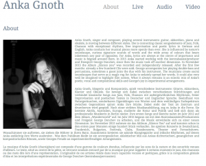 Anka Gnoth, chanteuse, chanson, jazz, guitare, folk, poésie