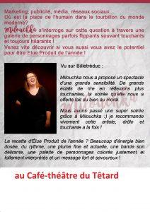 One woman show, Têtard, théâtre, théatre du Têtard, bouchon, bouchon lyonnais, cuisine lyonnaise, 13005 Marseille, 13005, café-théâtre, Marseille, Milouchka