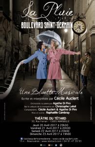 La Pluie Boulevard Saint-Germain, Chopin, Cécile Auclert, Agathe Di Piro, bluette musicale, Raphaëlle Cambray, Christophe Leloil