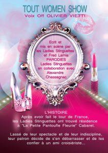 Stella Tchatcha, Nini la Chance, ladies stinguettes, Fred Lamia, La petite pantoufle fleurie, Tout Woman Show