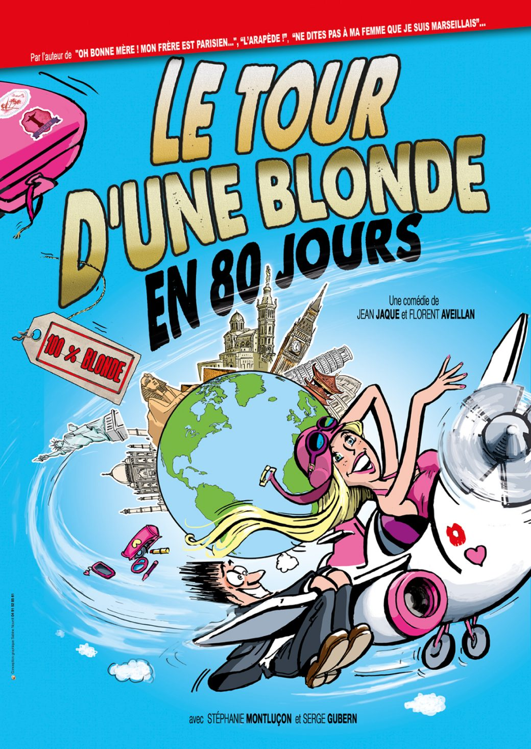 Serge Gubern, Stéphanie Montluçon, Jean Jaque, Florent Aveillan, le tour du monde en 80 jours, comédie