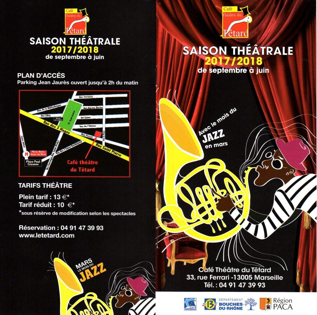 invitation - présentation - saison théâtrale - café-théâtre - le Têtard - le théâtre du Têtard