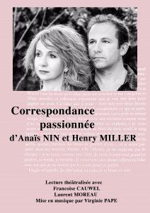 Correspondance passionnée d'Anaïs Nin et Henry Miller