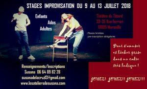 Stages improvisation du 9 au 13 juillet 2018
