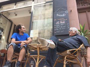 Cyril Benhamou avec son père