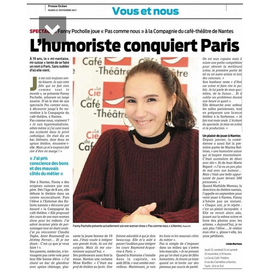Fanny Pocholle, l'humoriste conquiert Paris