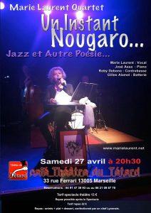 Marie Laurent Quartet Un instant Nougaro