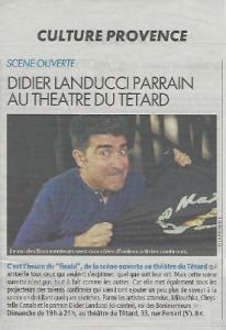Didier Landucci parrain au Têtard pour le FIEALD Marseille